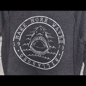 Billabong Tops - Billabong Sharks Makin Waves Sweatshirt Gray